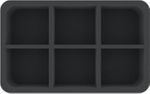 HSMECO075BO 75 mm (2.95 inches) half-size foam tray with 6 slots for large miniatures