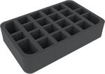 HSMEDL055BO foam tray with 22 compartments