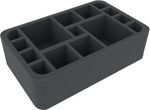 HSMEDR075BO foam tray with 15 compartments