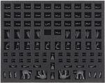 FSMEDD030BO Schaumstoffeinlage mit 97 Fächern für Star Wars Rebellion + Aufstieg des Imperiums - Imperiale Miniaturen