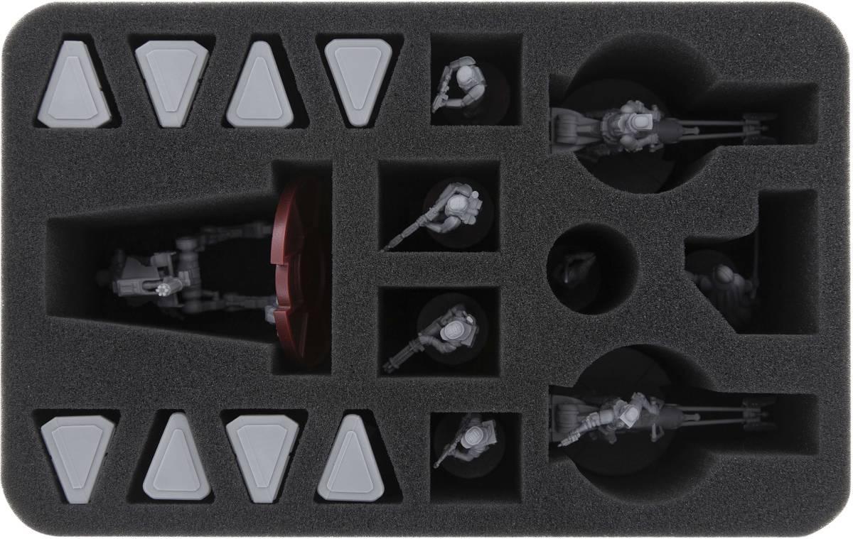 HSMEED080BO foam tray for Star Wars Legion 1 x AT-RT and  2 x  74-Z Speeder Bikes