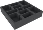 AFMEEX060BO 285 mm x 285 mm x 60 mm foam tray with 11 compartments for board game boxes