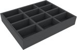 FSMEEY055BO 55 mm Full-Size foam tray with 12 compartments