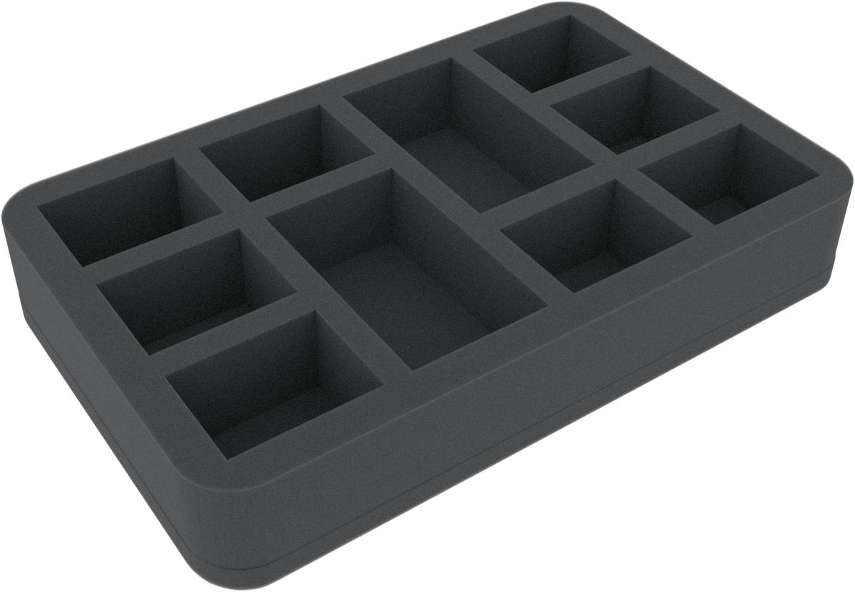 HSMEFF045BO 45 mm foam tray with 10 compartments