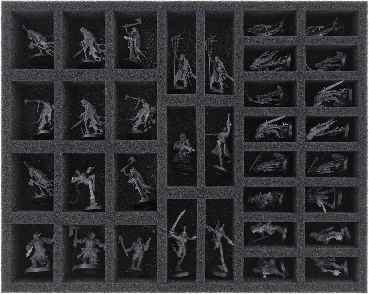 FS040WH25 40 mm foam tray for Warhammer - 34 compartments