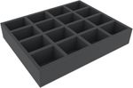 FSMEFP060BO 60 mm Full-Size foam tray with 16 compartments