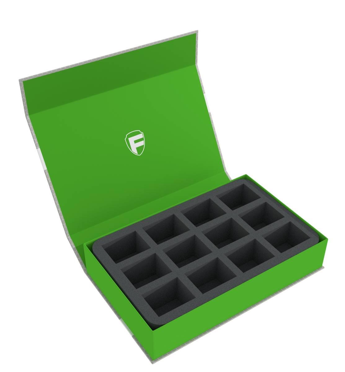 Feldherr Magnetbox grün für Necromunda: Underhive - 12 Fächer