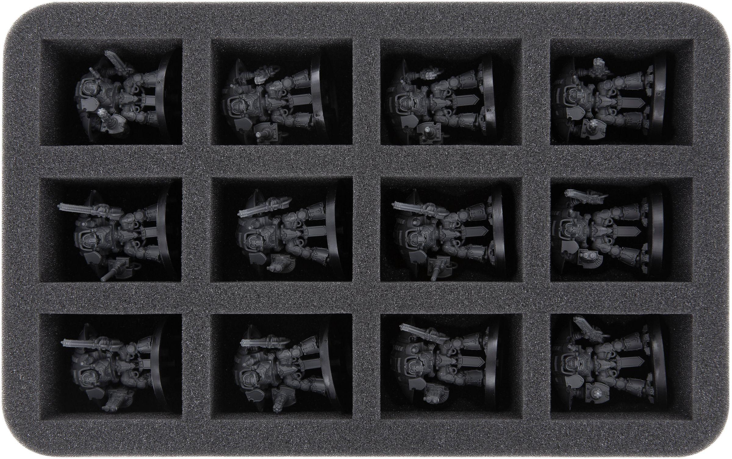 HS050WH29 Half-Size foam tray for Adeptus Titanicus: Imperial Knights |  Feldherr Worldwide