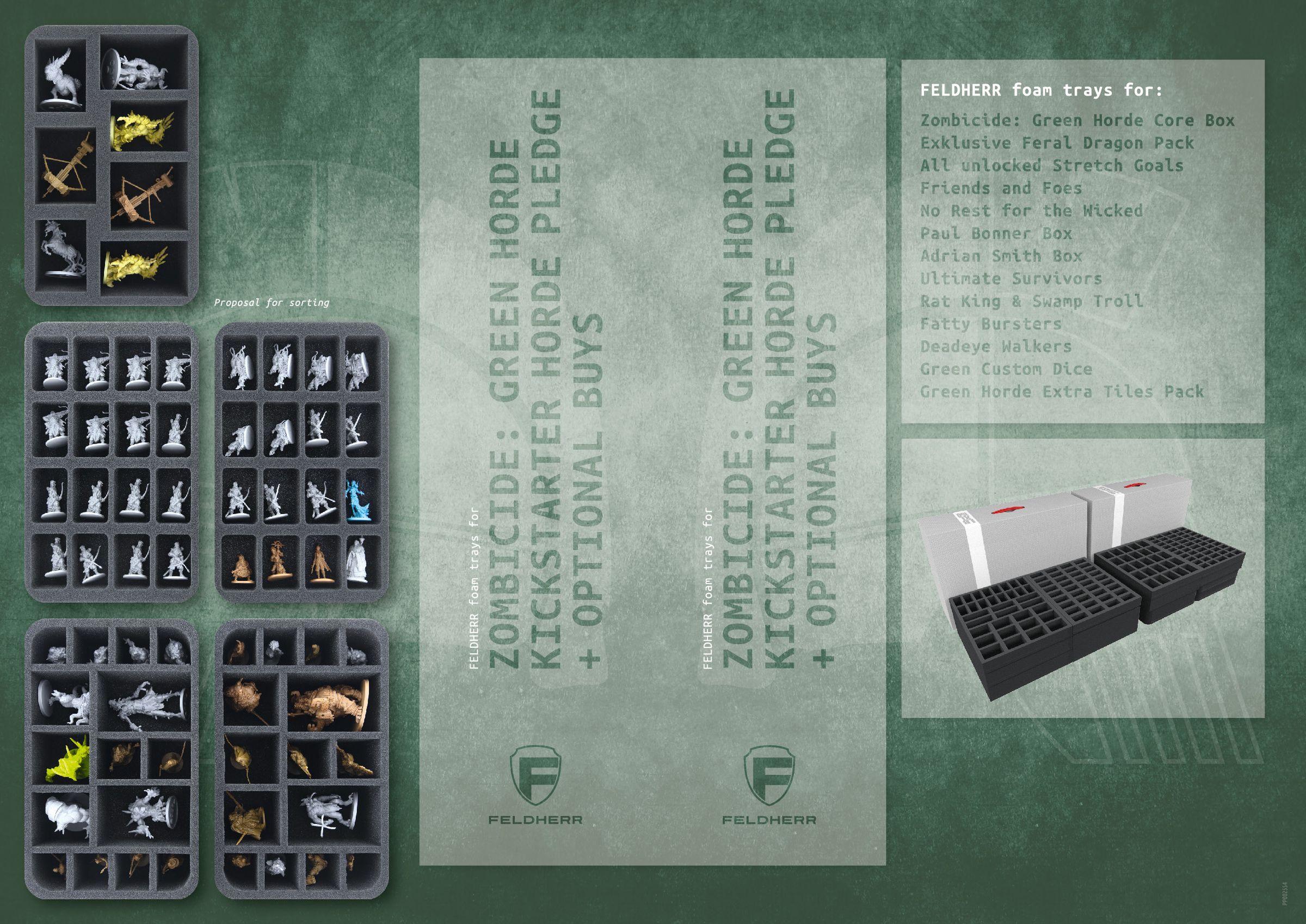 PP002554 - Flyer for Zombicide: Green Horde Kickstarter Horde Pledge + Optional Buys