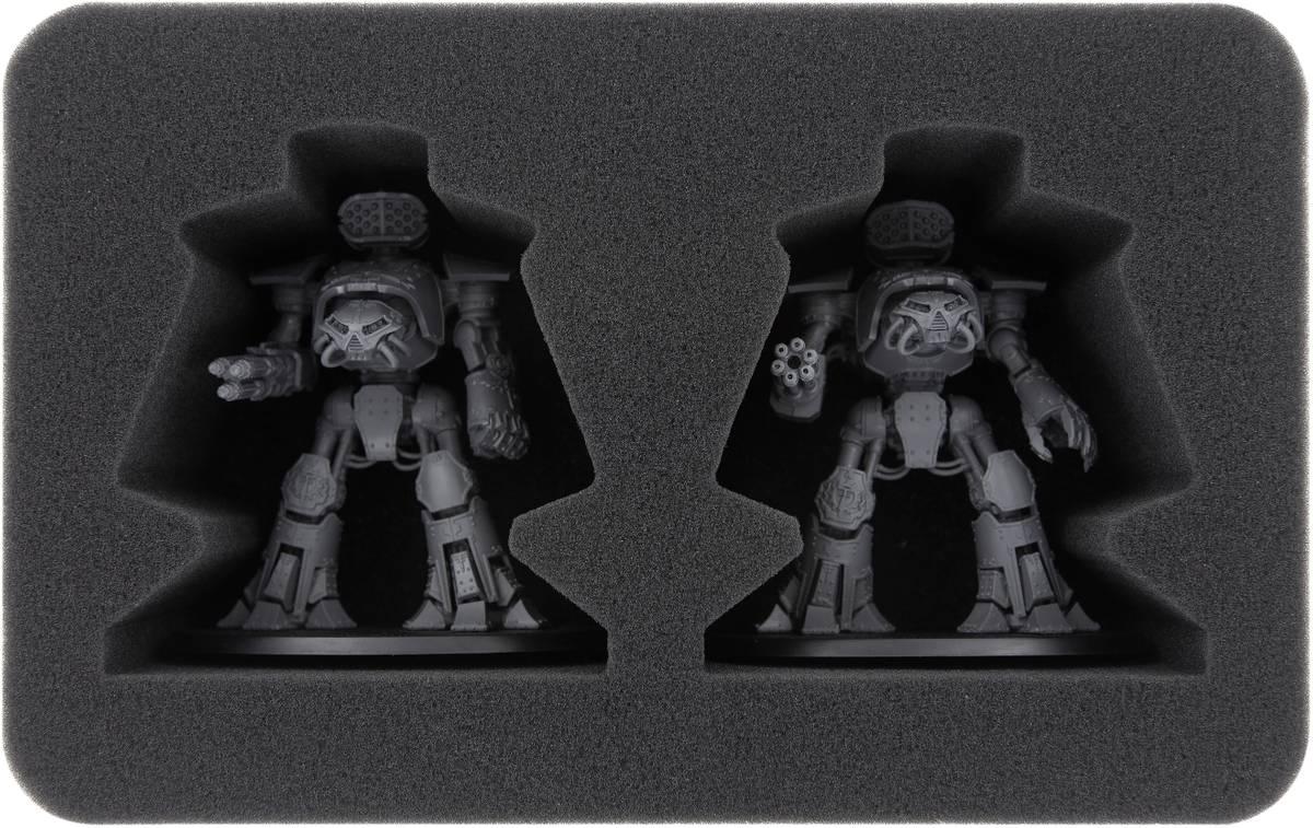 HSMEFN090BO Schaumstoffeinlage für Adeptus Titanicus: 2 Reaver Battle Titans
