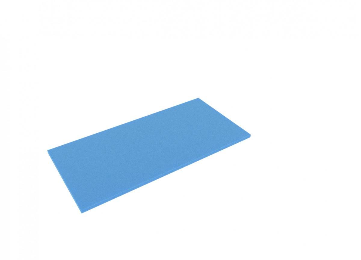 500 mm x 400 mm x 10 mm Schaumstoffzuschnitt / Schaumstoff Platte blau