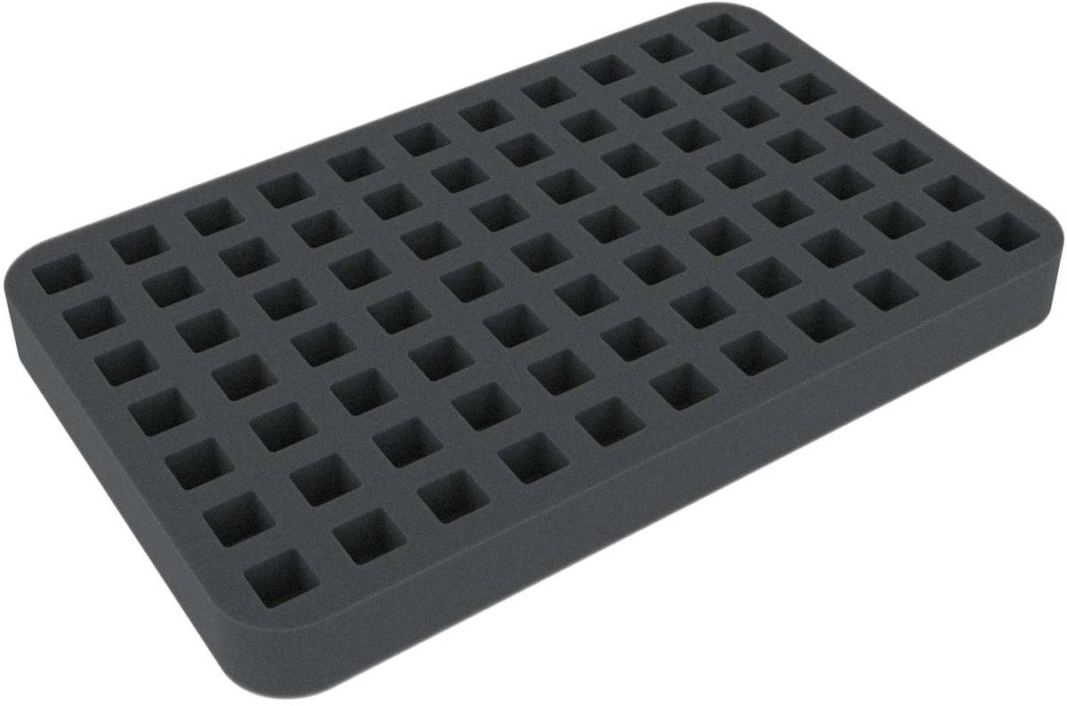 HS025WH34 25 mm foam tray for Warhammer - 77 dice