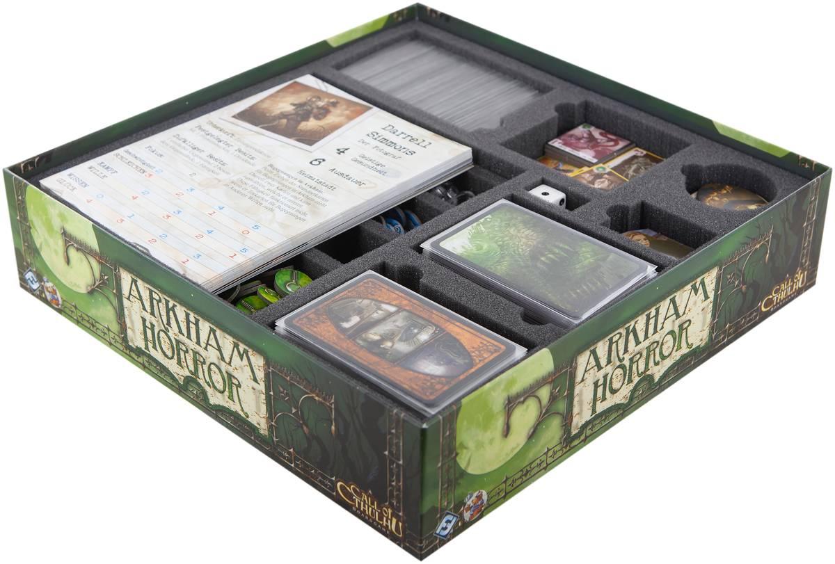 Feldherr foam tray set for Arkham Horror board game box