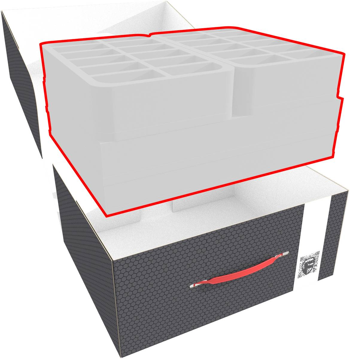 Feldherr Storage Box M custom - 150 mm Full-Size foam trays of your choice