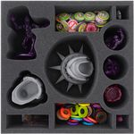 Foam tray value set for the Ghostbusters II board game box