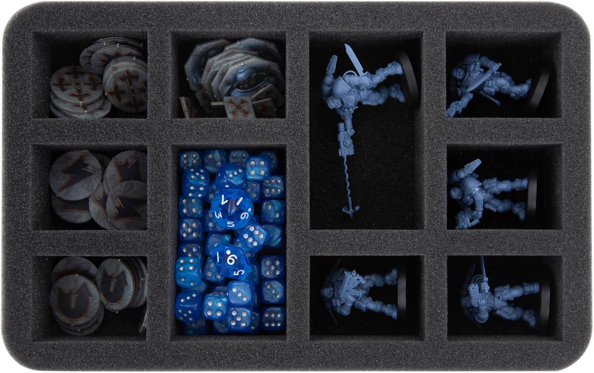 HS045WH37 45 mm foam tray for Warhammer - 10 compartments