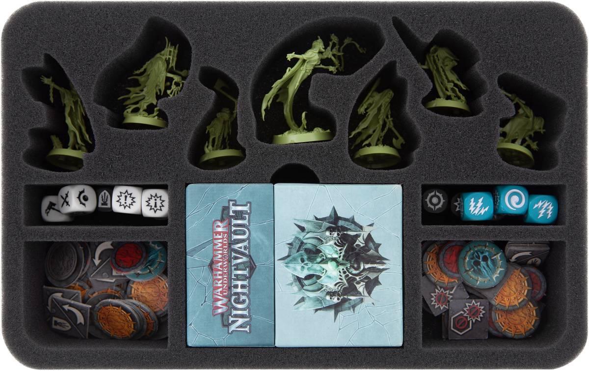 HSMEGZ050BO Schaumstoffeinlage für Warhammer Underworlds: Nightvault - Dornen der Rosenkönigin