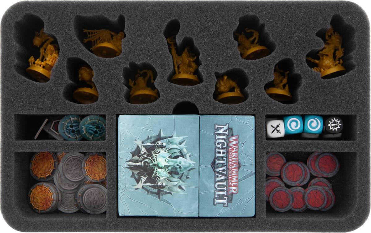 HSMEHF050BO Schaumstoffeinlage für Warhammer Underworlds: Nightvault - Zarbag's Gitz