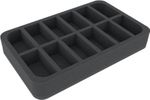HSMECP040BO 40 mm foam tray with 12 compartments