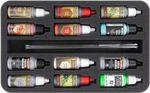 HSMEHH035BO Schaumstoffeinlage für 12 Farbfläschchen und Pinsel
