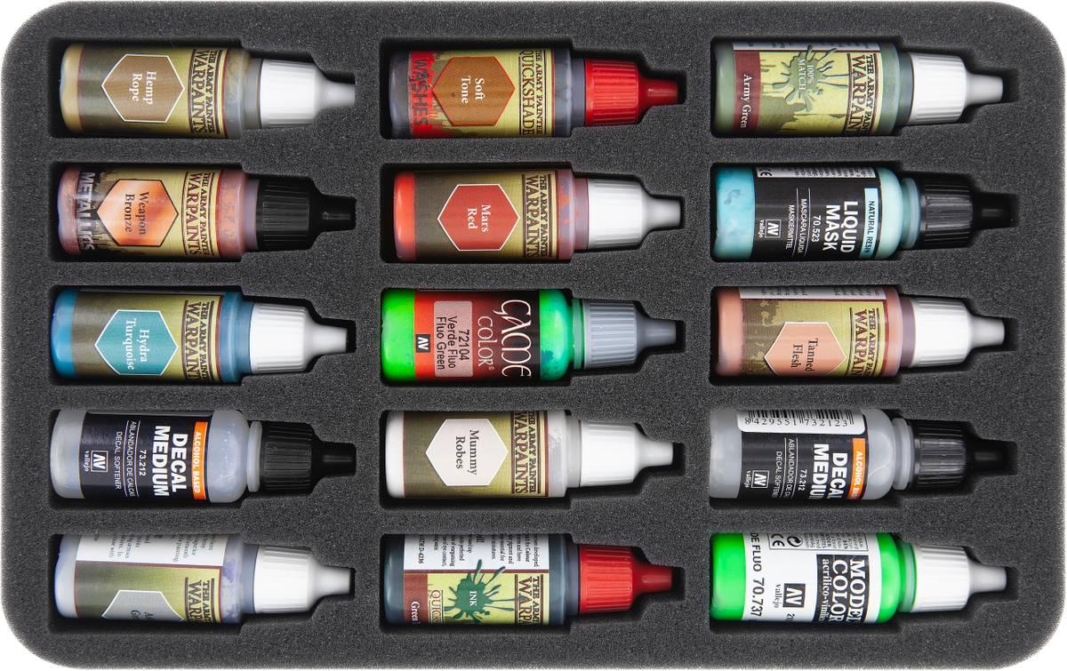 HSMEHG035BO Schaumstoffeinlage für 15 Farbfläschchen