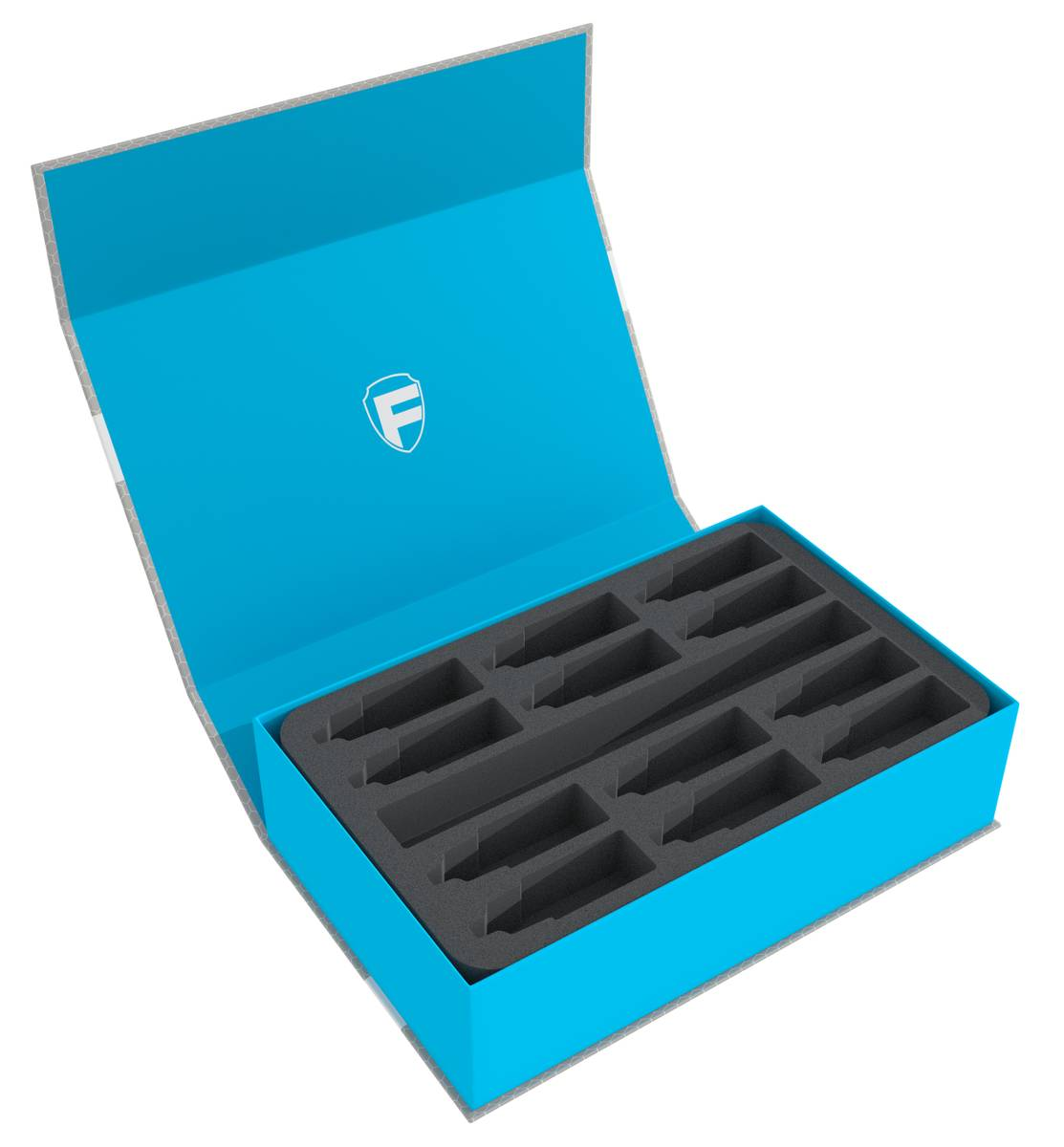 Feldherr Magnetic Box blue for model color bottles + paintbrushes