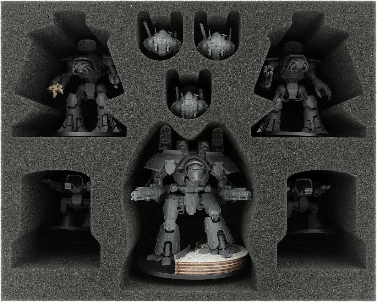 FSMEHL110BO Schaumstoffeinlage für Adeptus Titanicus: Warlord + Reaver + Warhounds + Knights