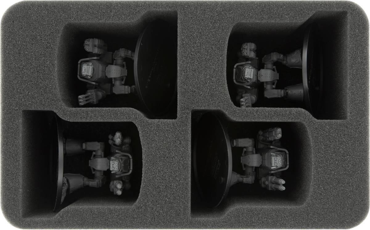 HSMEHK085BO Schaumstoffeinlage für Adeptus Titanicus: 4 Warhound Scout Titans