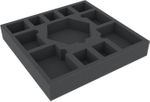 ASMEIN040BO 247 mm x 247 mm x 40 mm foam tray with 12 compartments for board game boxes