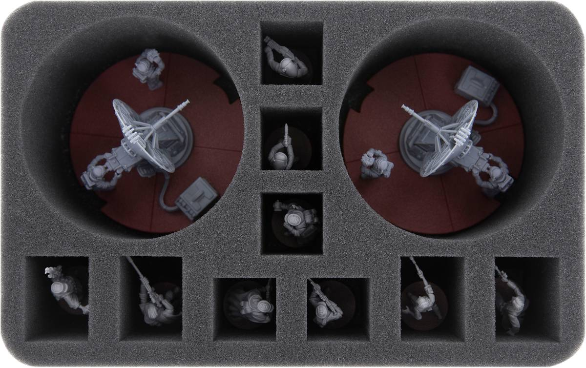 HS080LG06 foam tray for Star Wars Legion: 1.4 FD Laser Cannon Team