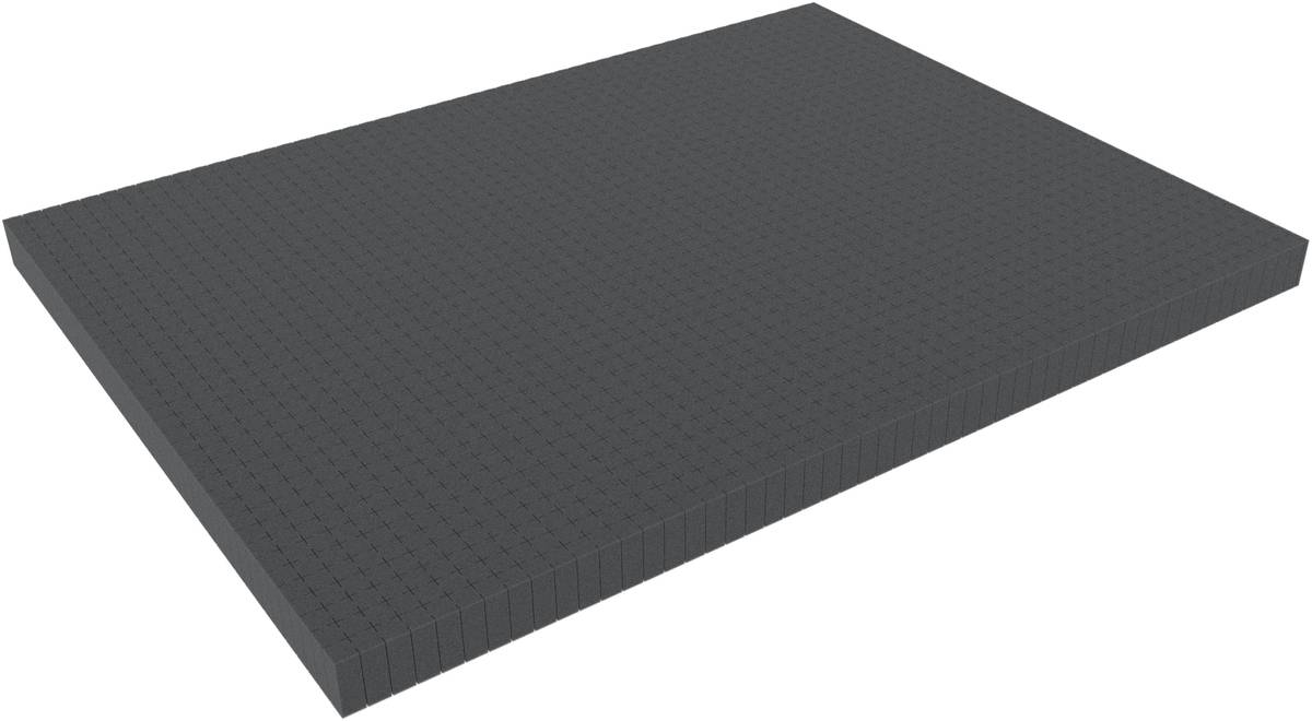 800 mm x 600 mm x 40 mm - Raster 15 mm - Pick and Pluck / Pre-Cubed foam tray