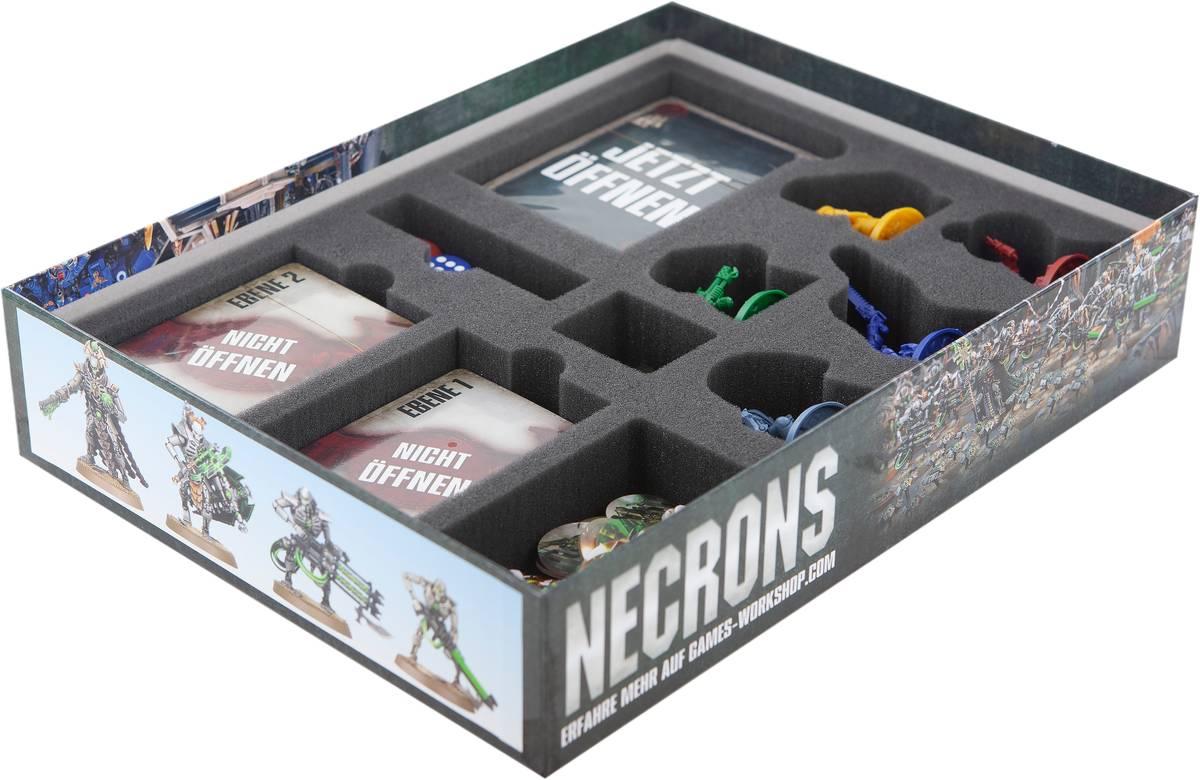 Feldherr Schaumstoff-Set für Space Marine Adventures: Im Labyrinth der Necrons - Brettspielbox
