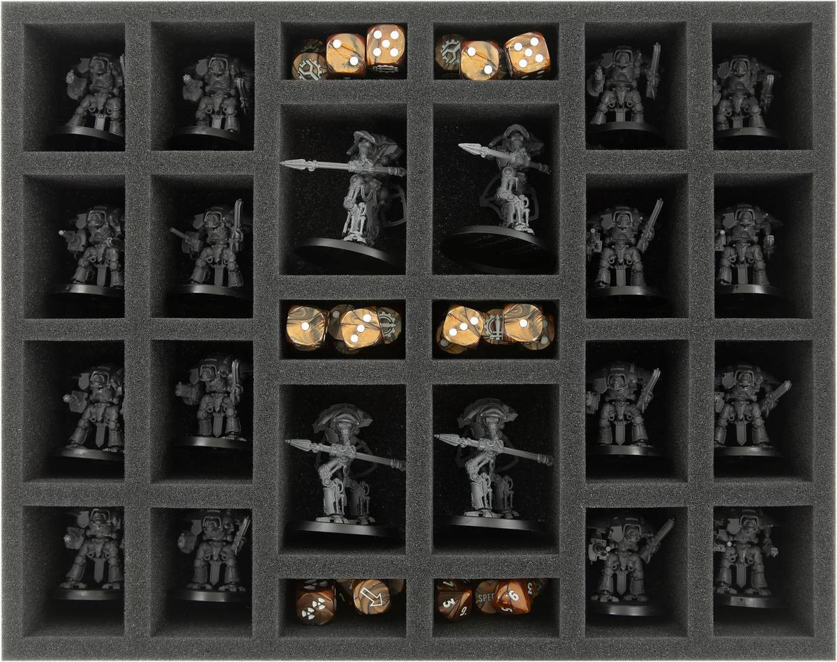 FS060WH42 foam tray for Adeptus Titanicus: Cerastus Knights + Imperial Knights