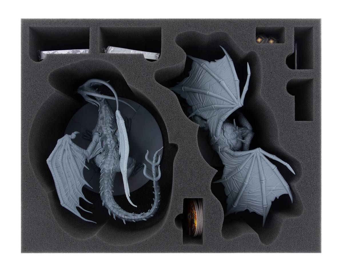 Feldherr foam tray set for Dark Souls: Black Dragon Kalameet + Old Iron King
