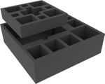 Feldherr foam tray set for Mansions of Madness 2nd Edition: Horrific Journeys board game box