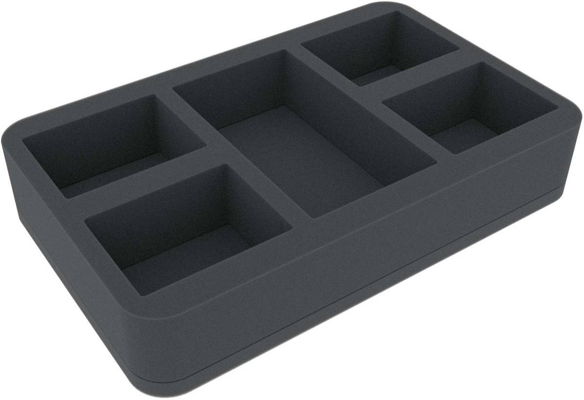 HSMEJK050BO 50 mm Half-Size foam tray with 5 compartments