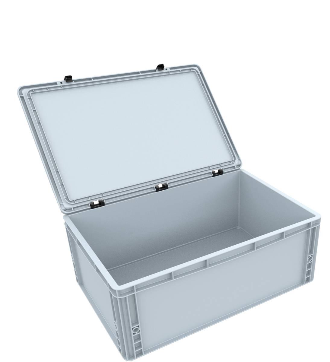 DSEB215 Eurobehälter / Euro Box mit Scharnierdeckel ED 64/22 HG