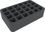 HSCS070BO 70 mm Half-Size foam tray with 24 compartments