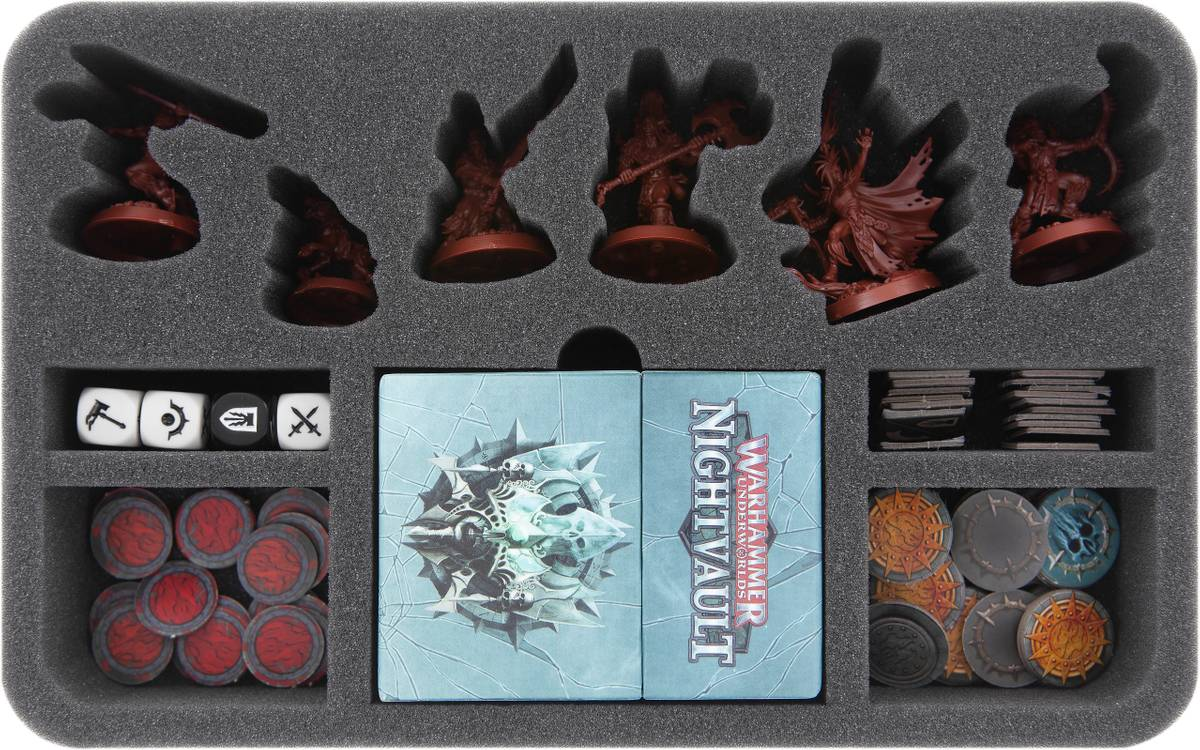 HSMEJS050BO foam tray for Warhammer Underworlds: Nightvault - Godsworn Hunt
