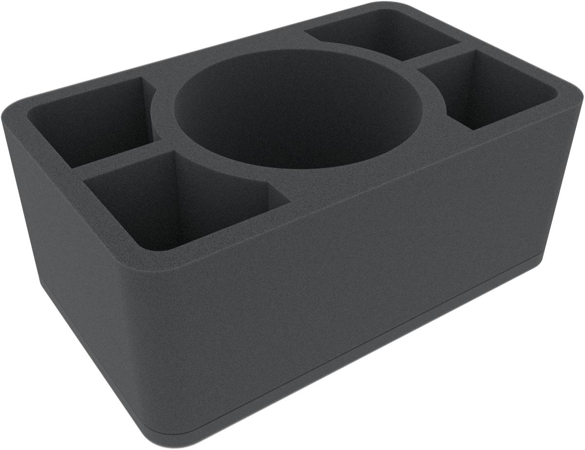 HSMEJX110BO 110 mm Half-Size foam tray with 5 compartments