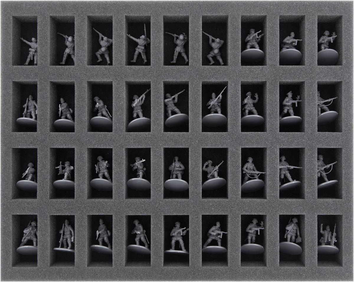 FS035BA02 Foam Tray for Bolt Action – 36 miniatures