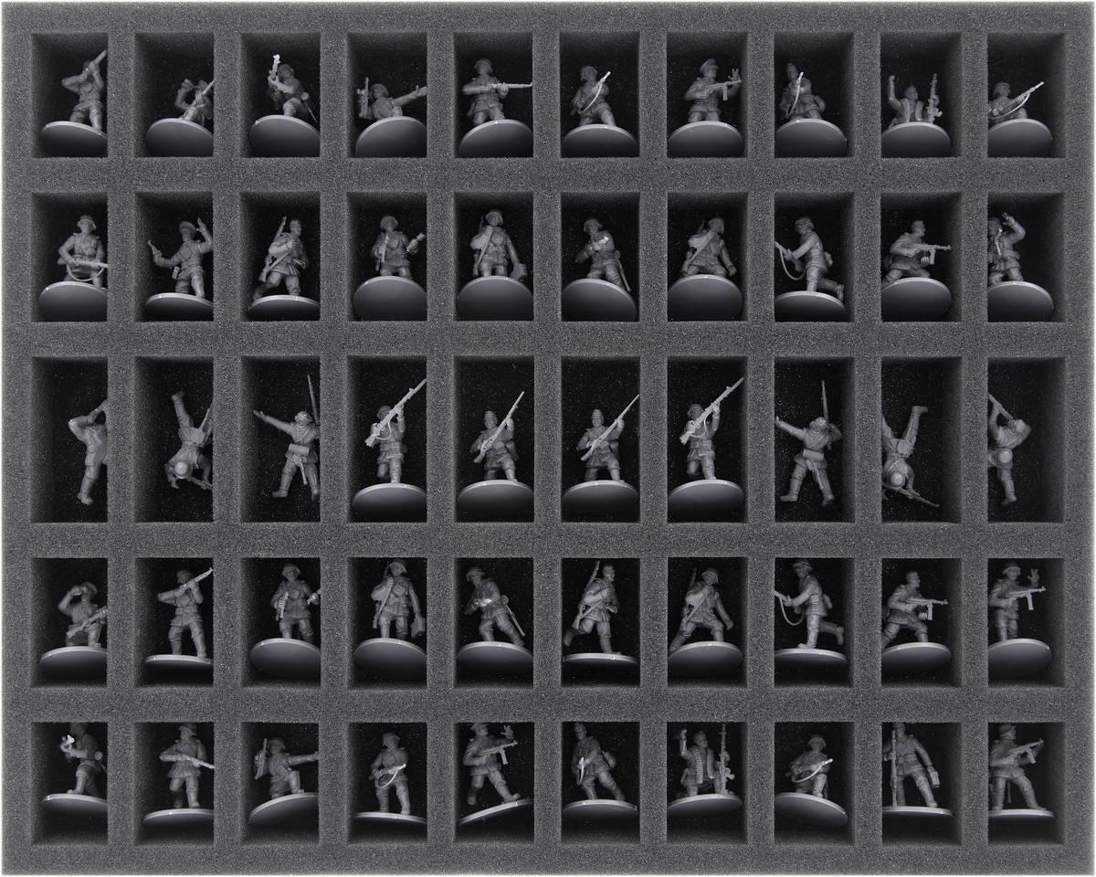 FS035BA03 Schaumstoffeinlage für Bolt Action - 50 Miniaturen