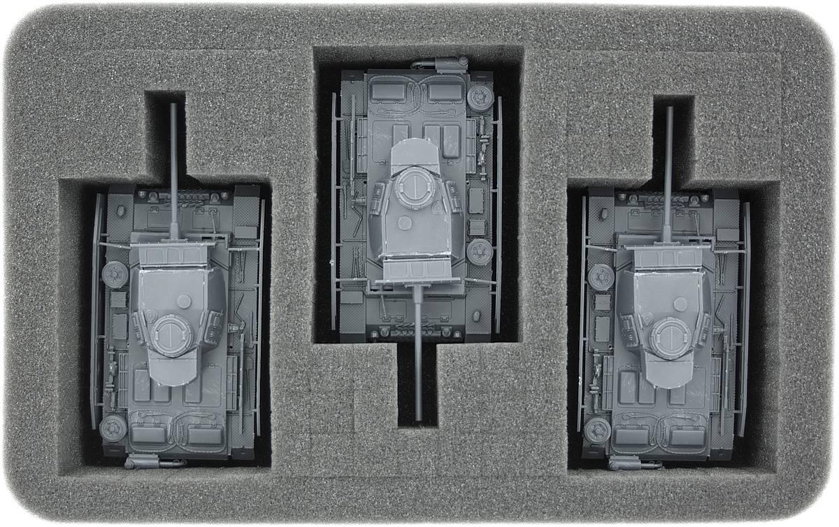 Feldherr Half-Size Schaumstoff-Set für Bolt Action - Panzer und Fahrzeuge