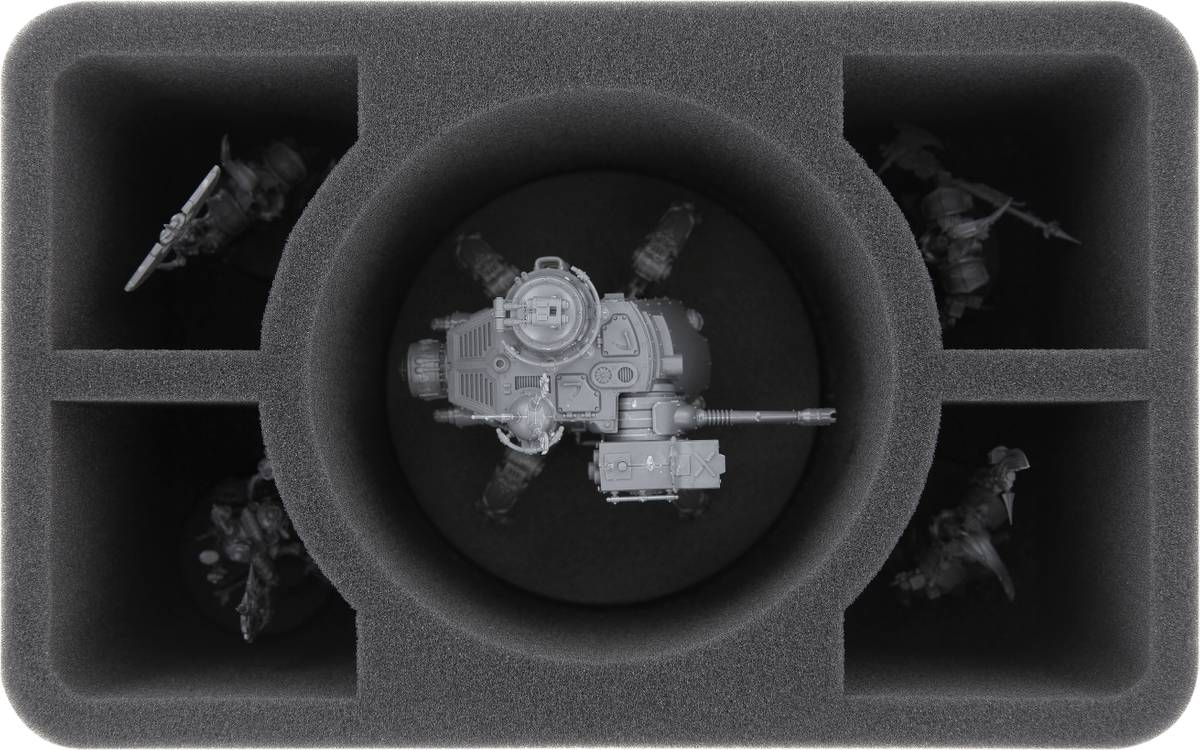 HS110WH50 foam tray for Adeptus Mechanicus Onager Dunecrawler + 4 compartments