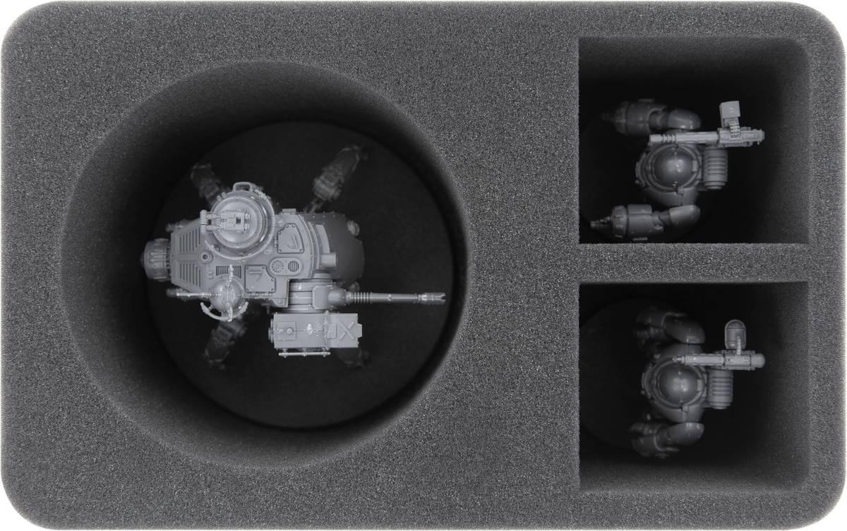 HS110WH51 Schaumstoffeinlage für Adeptus Mechanicus Onager Dunecrawler + 2 Fächer