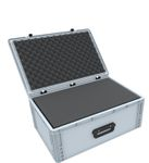 Eurobox Case with handle 600 x 400 x 235 mm inclusive pick and pluck foam