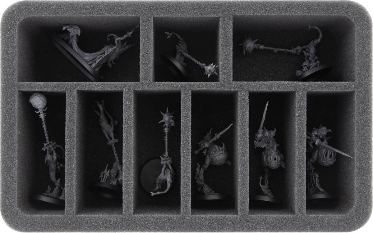 HS060WH56 foam tray for Gloomspite Gitz - 9 compartments