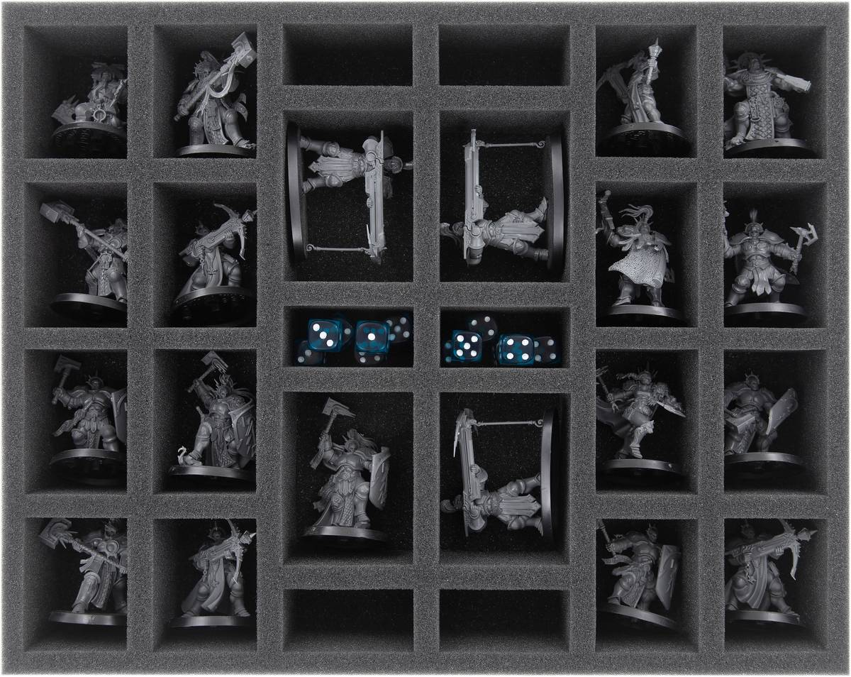 FS050WH61 foam tray for Stormcast Eternals – 26 compartments