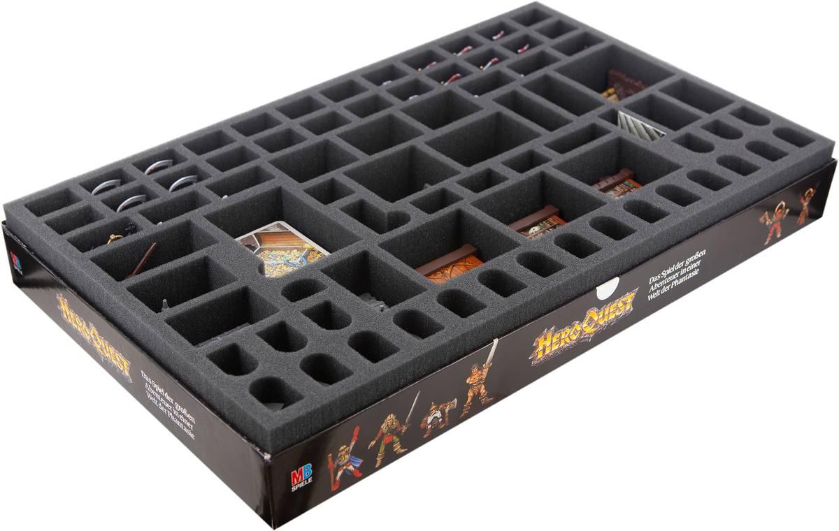 Feldherr foam tray set for HeroQuest board game box
