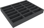FSMEKT040BO 40 mm Full-Size foam tray with 18 compartments